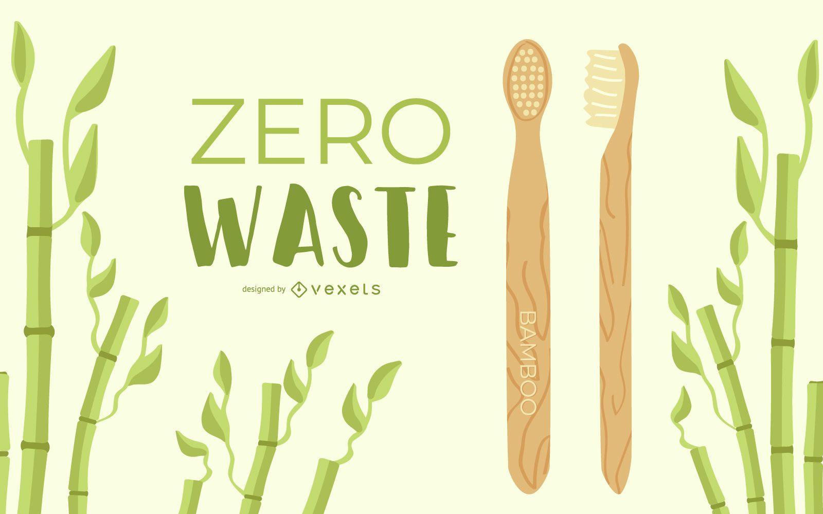 Diseño de cepillo de dientes de madera sin residuos
