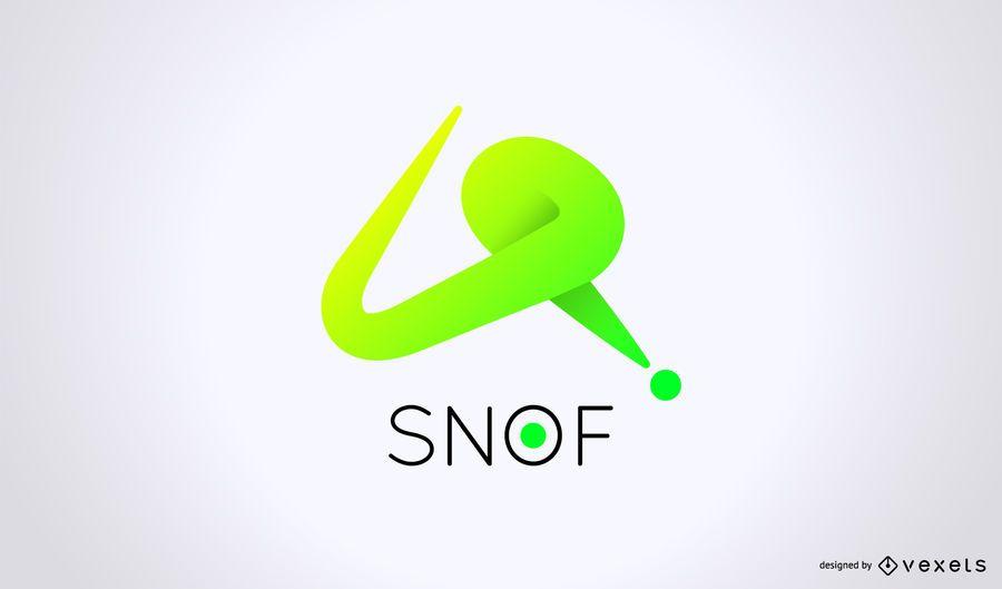 Diseño de logotipo de marca comercial dinámica
