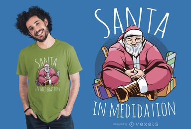 Santa Meditation T-shirt Design