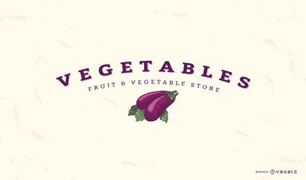 Eggplant vegetable logo template