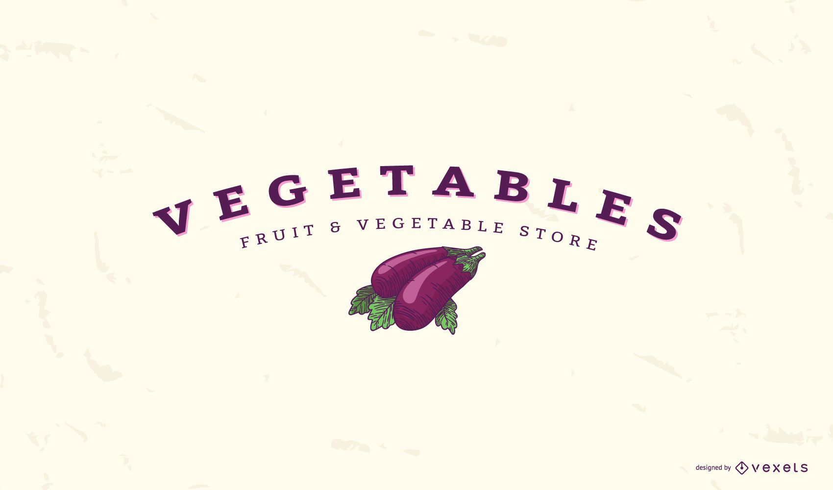 Eggplant vegetable logo template
