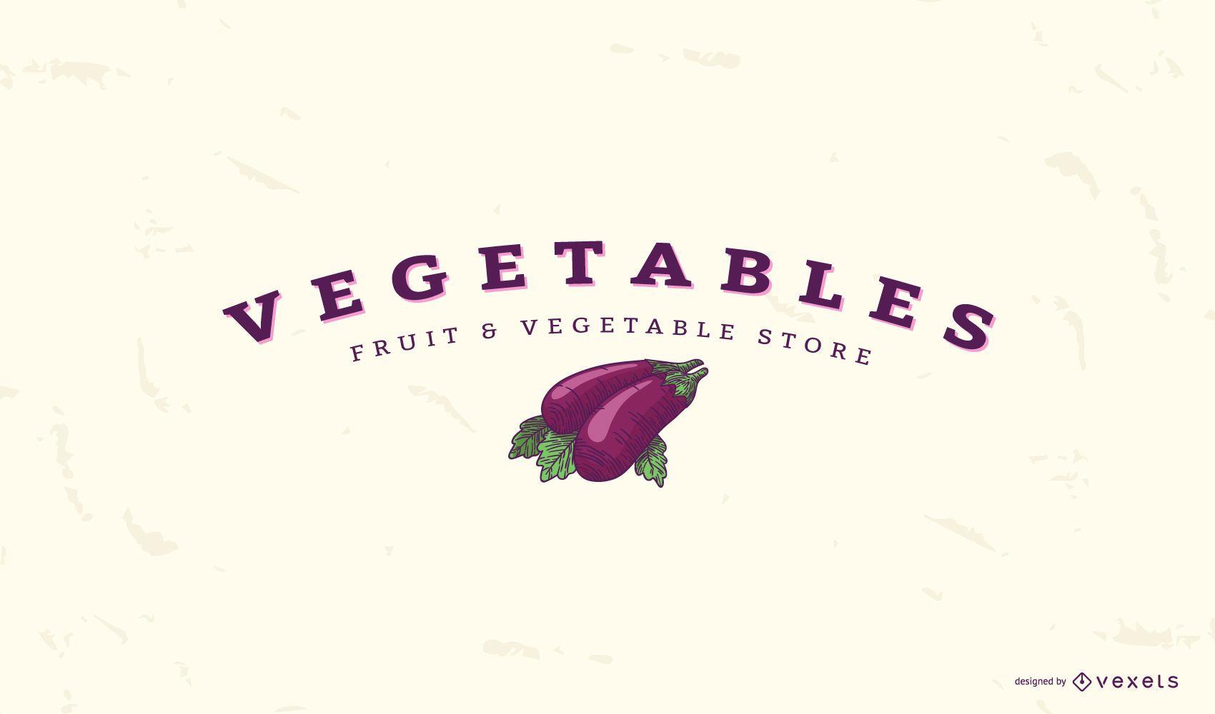 Plantilla de logotipo de berenjena vegetal