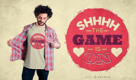 Jogo no design de t-shirt de citação