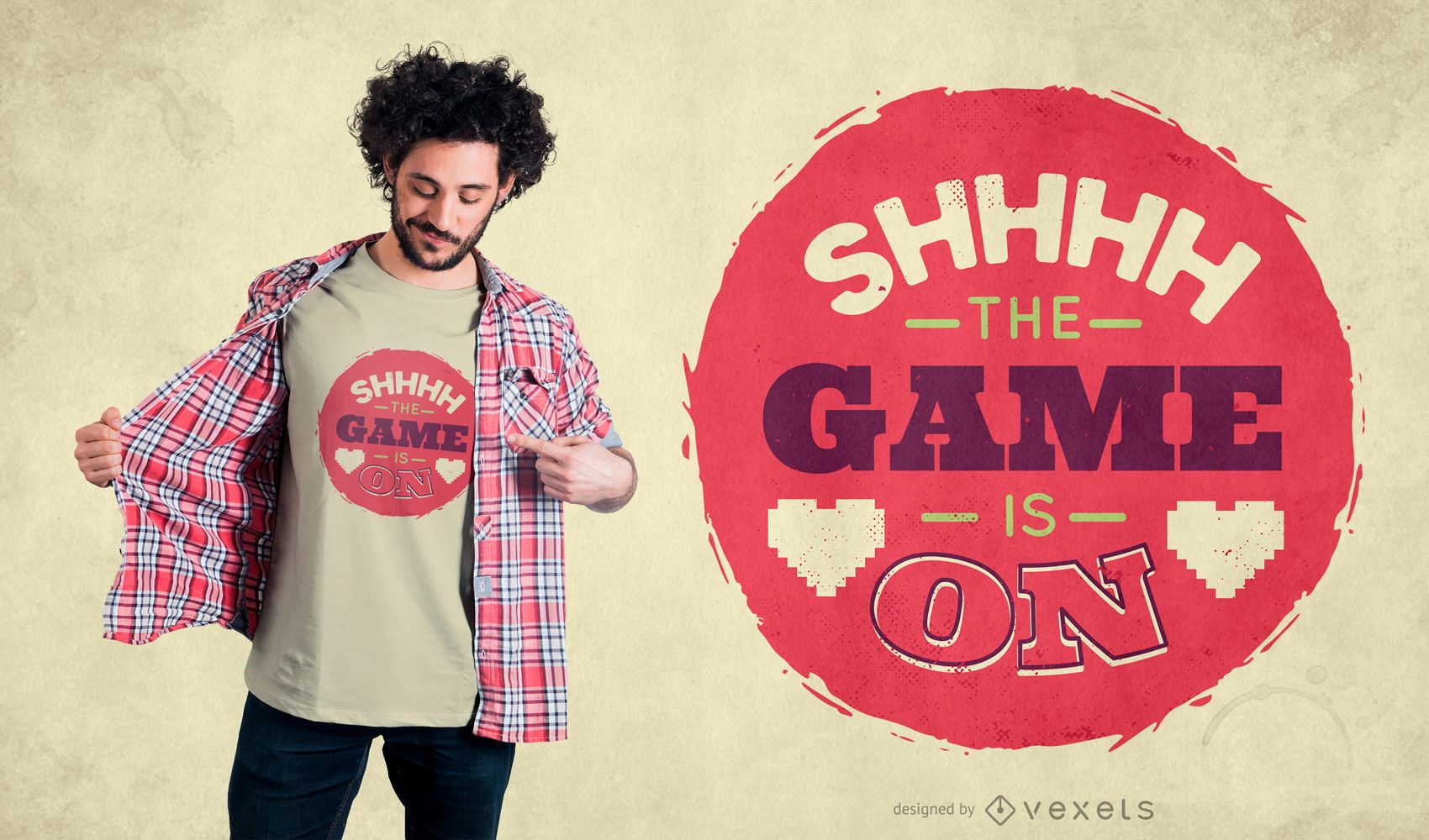 Game on quote t-shirt design