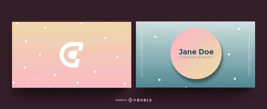 Abstract Modern Gradient Business Card