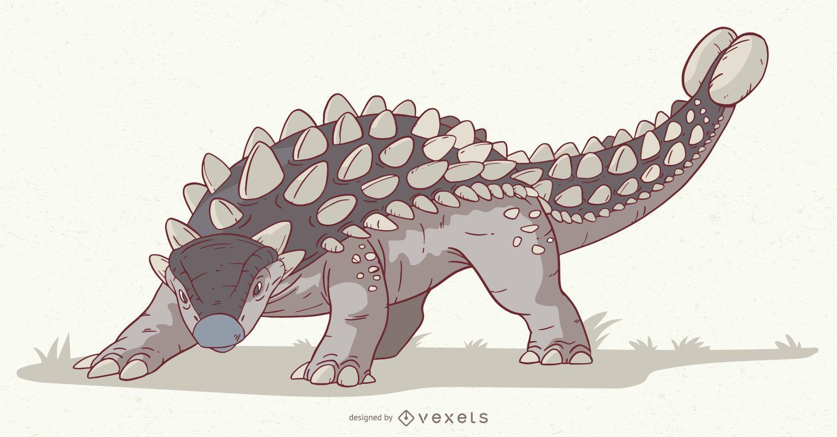 Ankylosaurus Dinosaurier Illustration