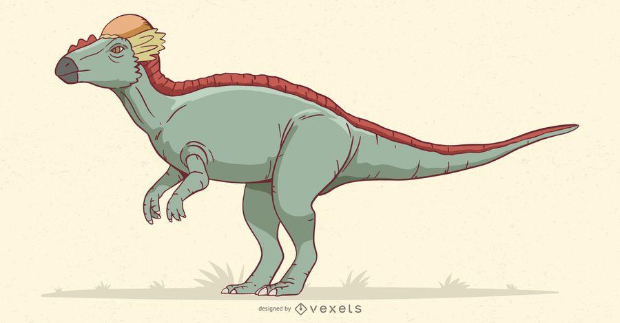 Stegoceras dinosaur illustration