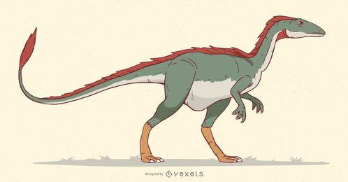 Ilustração do dinossauro Velociraptor