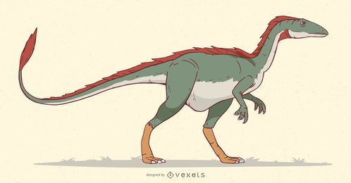 Velociraptor Dinosaur Illustration