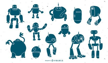 Conjunto de cabezas de robots