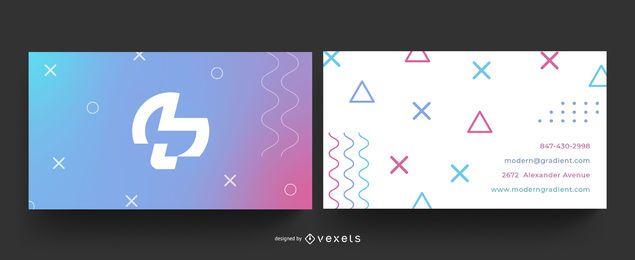 Visitenkarte mit geometrischem Farbverlauf