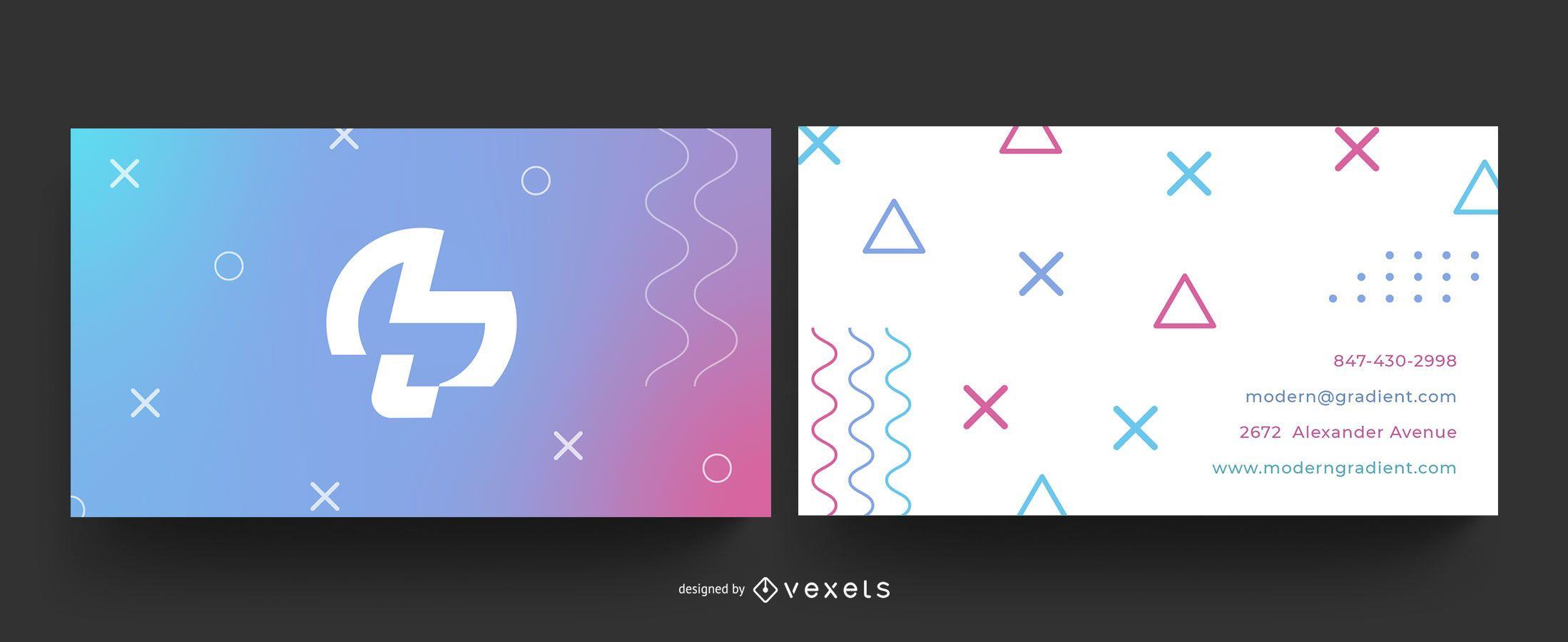Geometric gradient business card