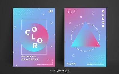 Geometrische Plakatvorlage mit Farbverlauf