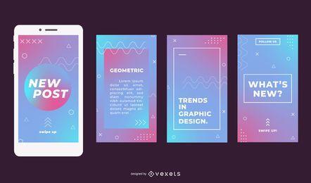 Geometrische Farbverlaufs-Social-Media-Geschichten