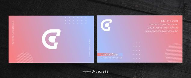 Modern gradient business card