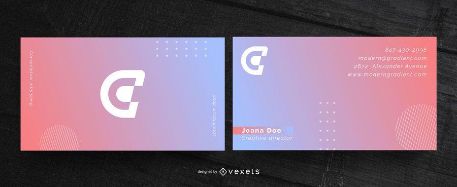 Cartão de visita moderno gradiente