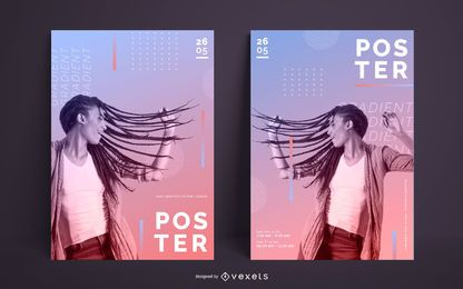 Modern Gradient Poster Template Design