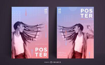 Modern Gradient Poster Template Design