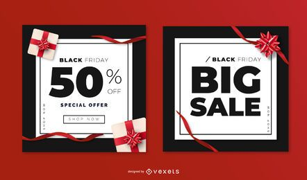 Black friday sale banner templates