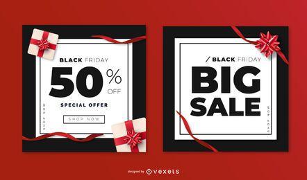 Modelos de banner de venda sexta-feira negra