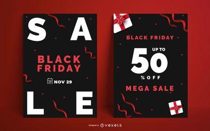 Pacote de design de cartaz de sexta-feira negra