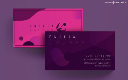 Abstract shapes business card