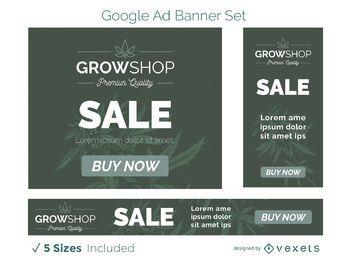 Wachsen Sie Shop-Werbebanner-Set