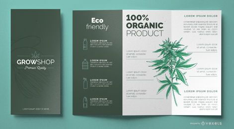 Plantilla de folleto de Grow Shop