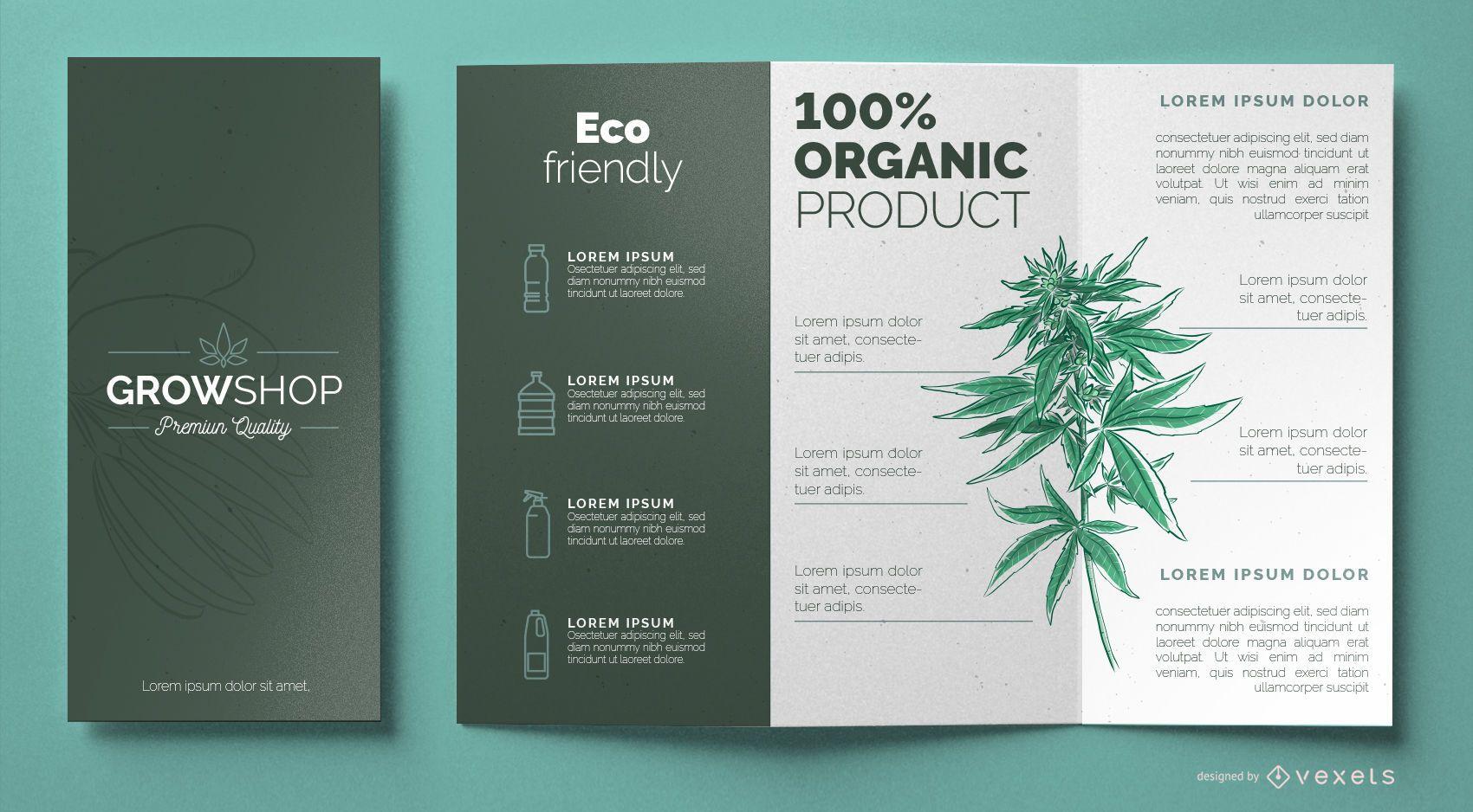 Plantilla de folleto de grow shop