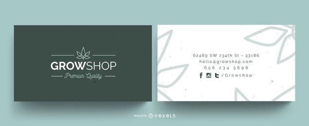Grow shop business card