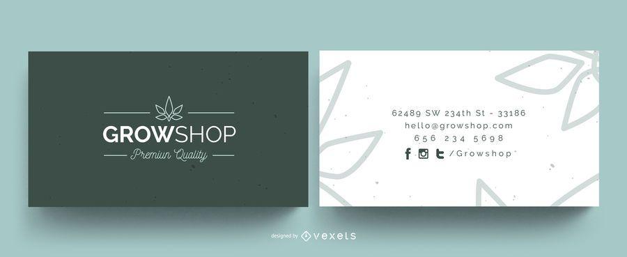 Cresça o cartão de visita da loja