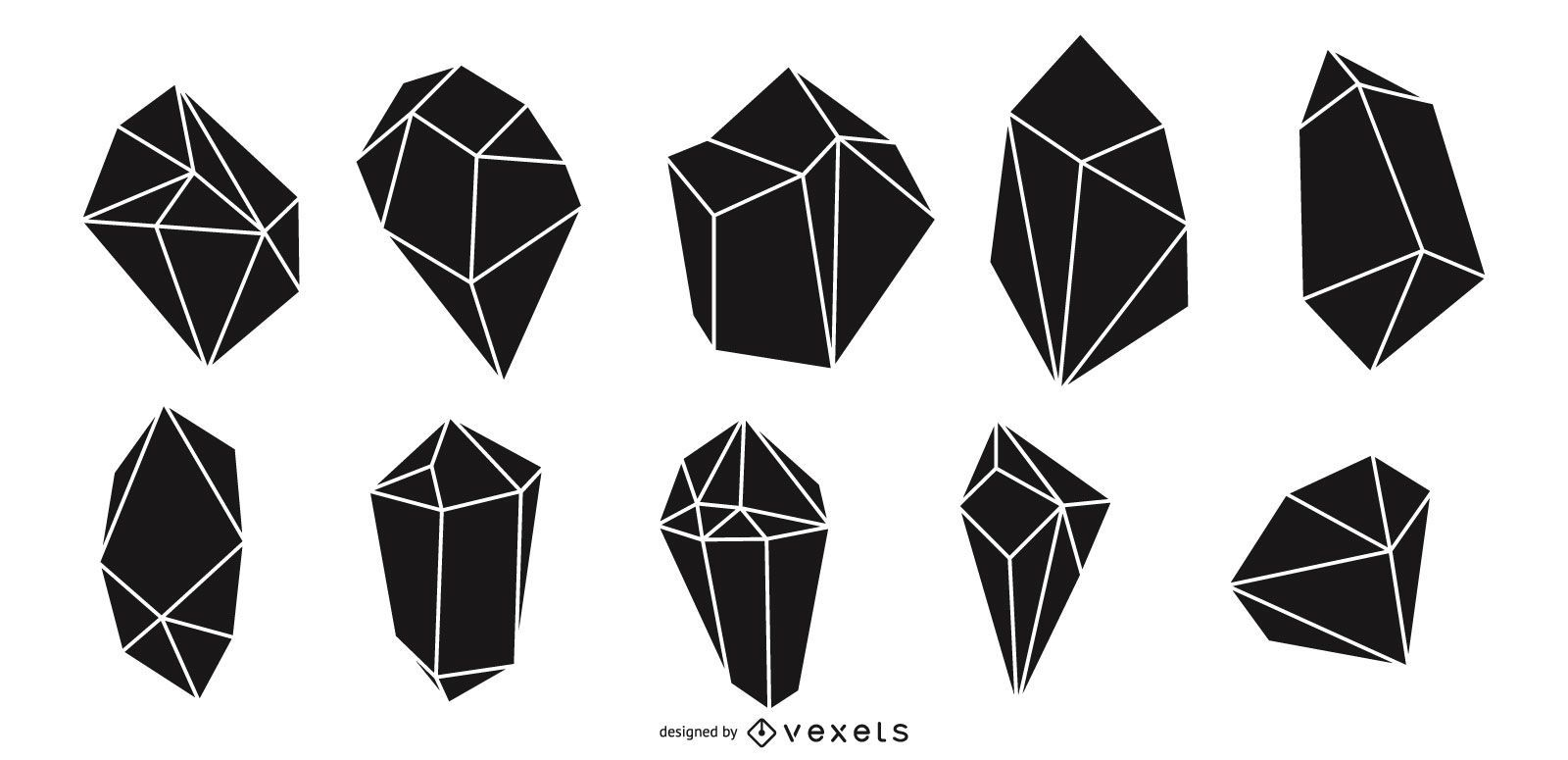 Crystals silhouette pack