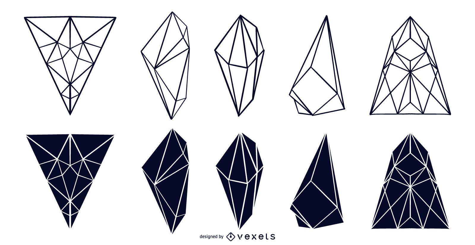 Geometric Crystal Design Collection