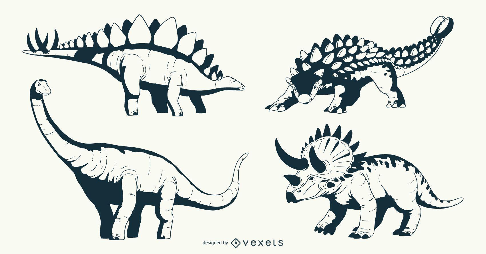 Dinosaurier Illustration Design Pack