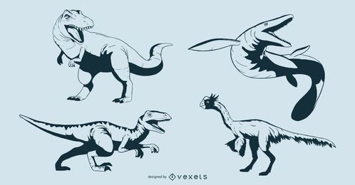 Cretaceous Dinosaur Design Set