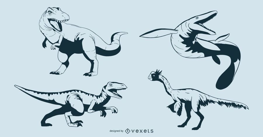 Cretaceous Dinosaur Design Set