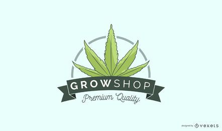 Design de logotipo personalizado da Growshop
