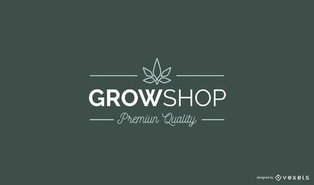 Design de logotipo personalizado da Grow Shop