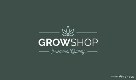 Grow Shop Benutzerdefiniertes Logo-Design