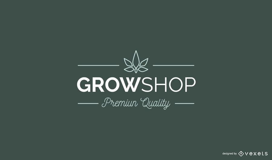 Grow Shop Custom Logo Design