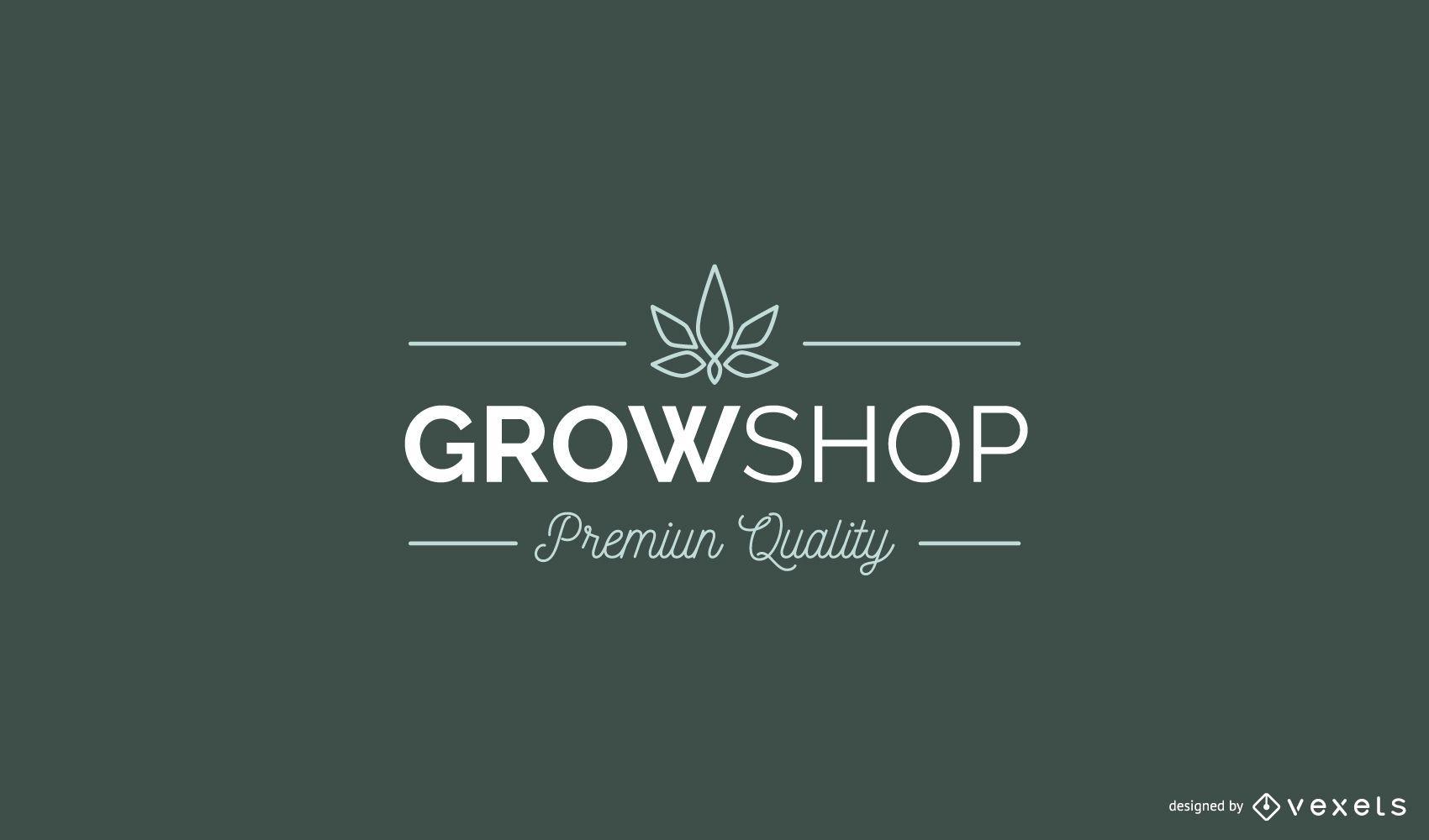 Design de logotipo personalizado da Grow Shop