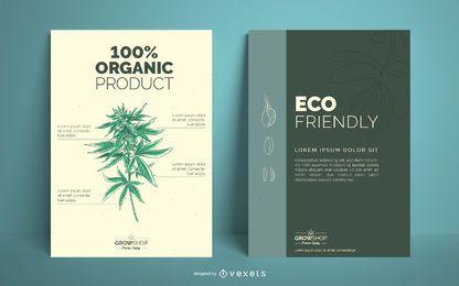 Conjunto de diseño de carteles de Grow Shop