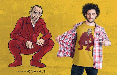 Diseño de camiseta de Vladimir Putin
