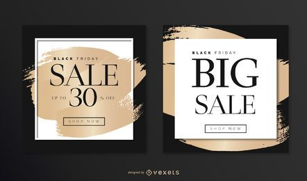 Elegantes Black Friday Square Designset