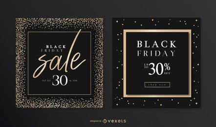 Conjunto de Banner elegante de Black Friday