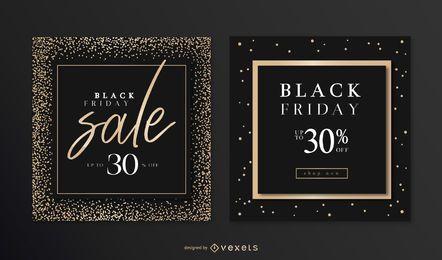 Conjunto de banner elegante sexta-feira negra