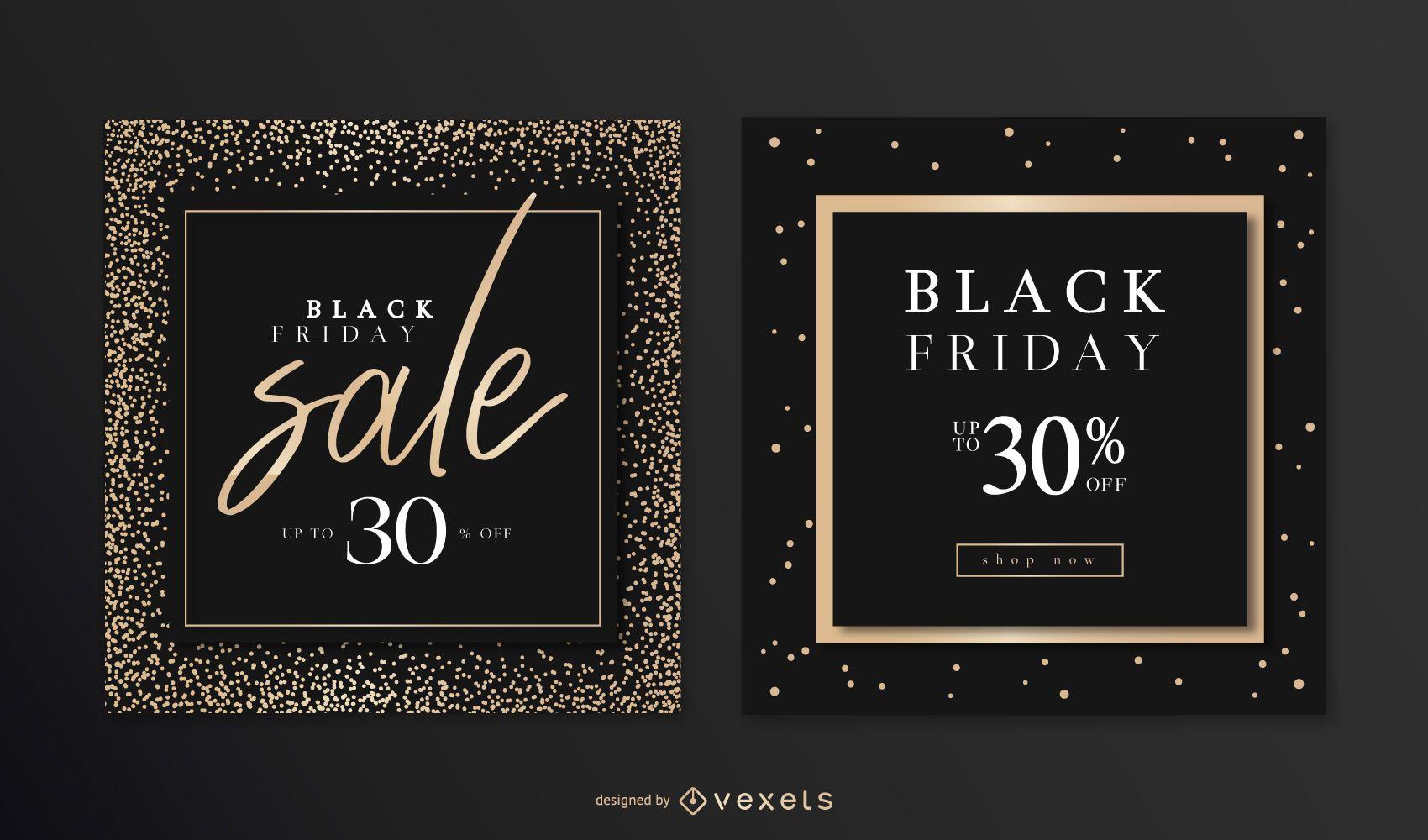 Black Friday Elegant Banner Set