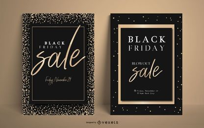 Conjunto de cartazes elegantes da Black Friday