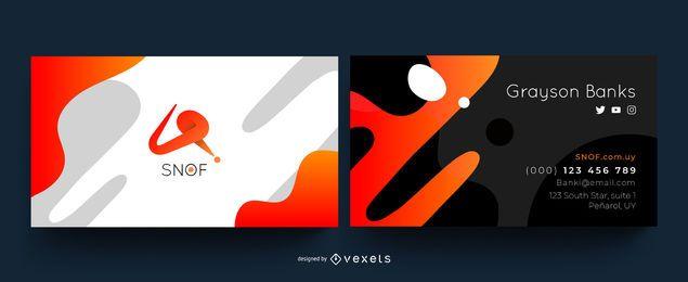 Design de cartão de visita criativo abstrato