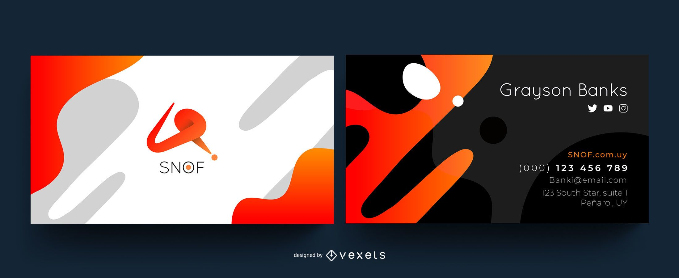 Diseño de tarjeta de visita creativa abstracta